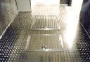 Aluminum Tread Plate flooring example.  Click to enlarge.
