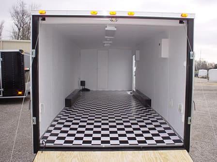 Black & White Checkerboard Flooring