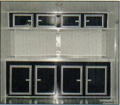 Staright Black Cabinets